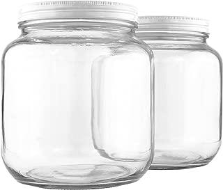 glass jars screw top lids