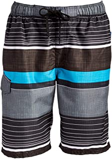 Kanu Surf Mens Barracuda Swim Trunks (Regular & Extended Sizes)
