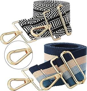 2 Pieces Wide Adjustable Purse Strap Replacement Crossbody Handbag Strap Guitar Style Stripe Belt