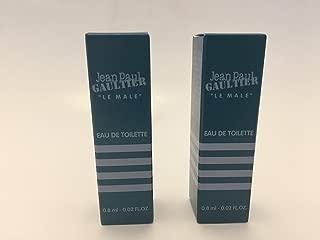 Jean Paul Gaultier Le Male Sample-Vials For Men 0.02 oz Eau De Toilette (Lot of 2)