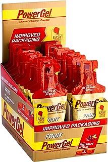 PowerBar Power Gel Fruit med kolhydrater, maltodextrin & natrium – energigel – vegan – röd fruktpunch (24 x 41 g)