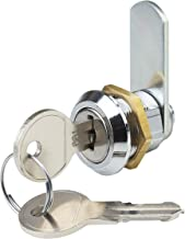 Metafranc cilinderhendelslot boormaat 19 mm gelijksluitende sluitweg 180° -metaal verchroomd incl. 2 sleutels/brievenbussl...