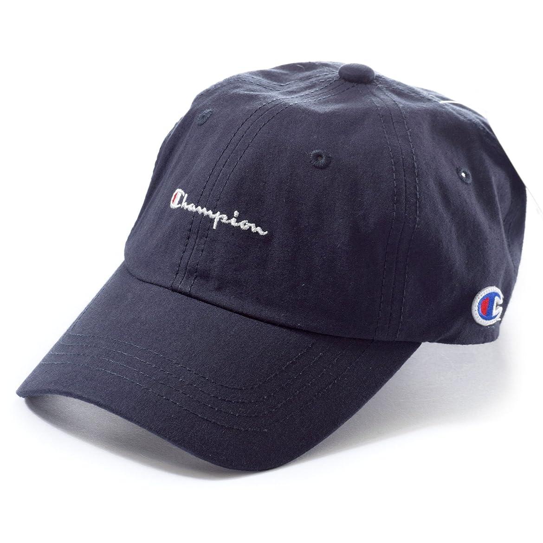 外科医かき混ぜるモーテル(チャンピオン) Champion 帽子 メンズ レディース コットン ローキャップ COTTON LOW CAP 381-0047 (フリー(約57-59cm), ネイビー)