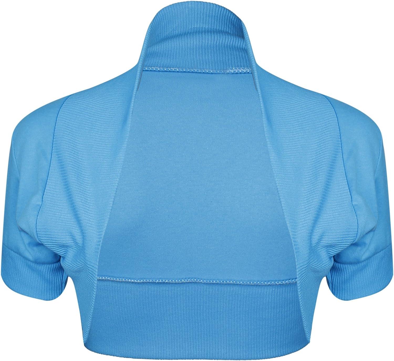 Purple Hanger Women's Bolero Cap Sleeve Cardigan Shrug Top Turquoise 12-14