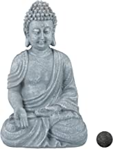 Relaxdays Buddha Ornament Sitting 30 cm high, Garden Decorative Figurine for Home and Garden; Weatherproof, Frost-Proof, L...