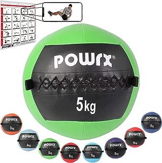 POWRX Wall Ball Balón Medicinal 2-10 kg - Ideal para