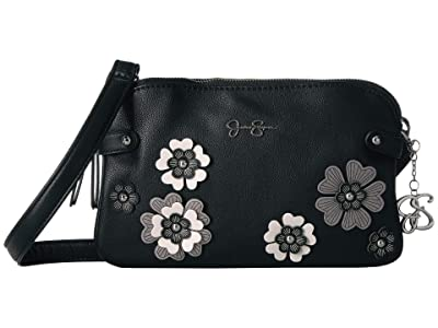 Jessica Simpson Rosalie Crossbody (Black) Cross Body Handbags