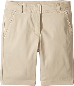 Twill Skinny Bermuda Shorts (Big Kids)