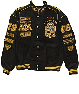 Alpha Phi Alpha School Initials and Fraternity Shield on Two-Tone Snap Racing Jacket