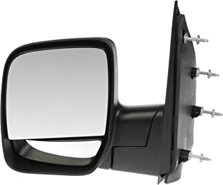 Dorman 955-495 Driver Side Manual Door Mirror - Folding for Select Ford Models, Black