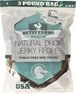 Betsy Farms Beef Duck Grillers Dog Jerky Treats, 48 Oz