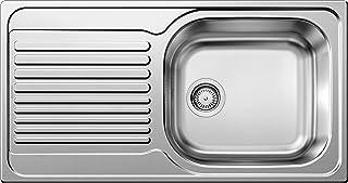 BLANCO TIPO XL 6 S, Einbauspüle, Küchenspüle, reversibel, ohne Ablauffernbedienung, Edelstahl Bürstfinish 511908