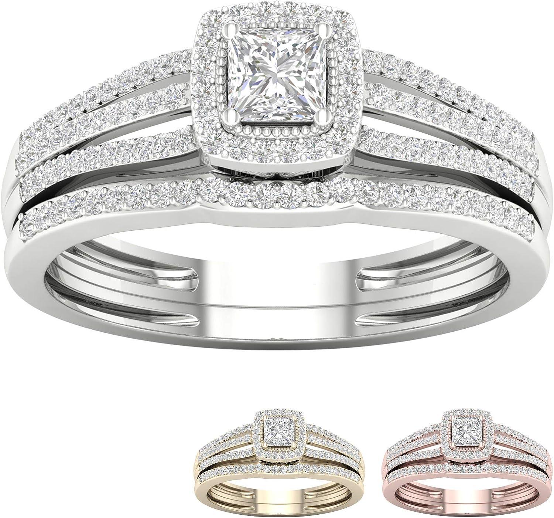 IGI Certified 10k Gold 1 2 Ct Halo TDW 店内全品対象 Engagement S 正規取扱店 Diamond Ring