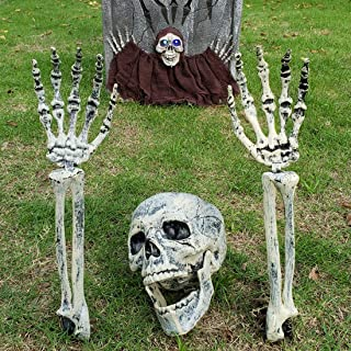 DUBBUL Realistic Looking Skeleton Stakes, Yard Lawn Stakes, Groundbreakers for Best Halloween Yard Decorations