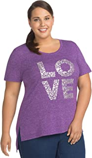 Women's Size Plus Short Sleeve Graphic Tunic