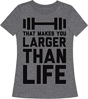 Larger Than Life Womens Fitted Triblend Tee