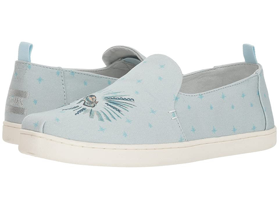 TOMS Disney(r) Deconstructed Alpargata (Blue Cinderella Printed Canvas) Women