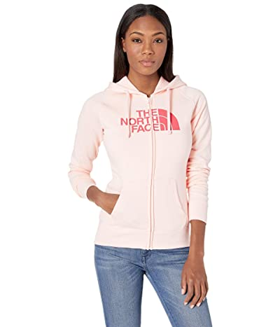 The North Face Half Dome Full-Zip Hoodie (Pink Salt Heather/Spiced Coral) Women