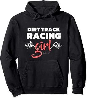 Dirt Track Racing Girl Modified Sprint Car Racing  Pullover Hoodie