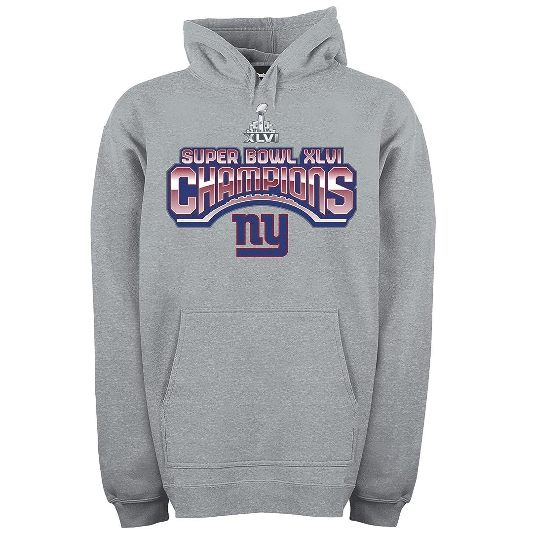 測定返還水族館NFLニューヨーク?ジャイアンツSuper Bowl XLVI Championsフード付きスウェットシャツメンズ グレー