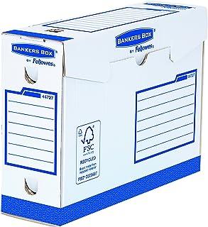 Fellowes 4472702 Boites d'Archives BankerBox Heavy Duty Charge Lourde Format A4+ Dos de 10cm - Montage Manuel Blanc/Bleu (...