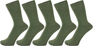 Finest Combed Cotton Dress Socks in Plain Vivid Colours for Men, Women - Pack of 5