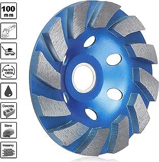 "SUNJOYCO 4"" Diamond Cup Grinding Wheel, 12-Segment Heavy Duty Turbo Row Concrete.."