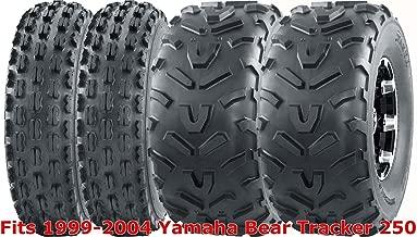 1999-2004 Yamaha Bear Tracker 250 Sport ATV Full Tire Set 22x7-10 & 22x11-10