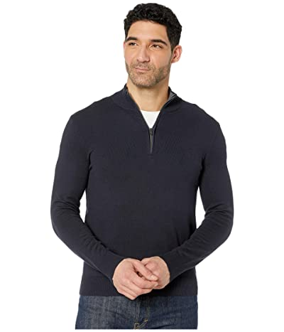 Calvin Klein Cotton Modal Long Sleeve 1/4 Zip (Night Sky) Men