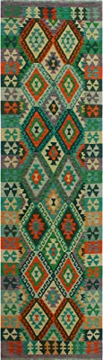 Noori Rug Sangat Dannasof Green/Purple Rug, 2'9 x 9'7