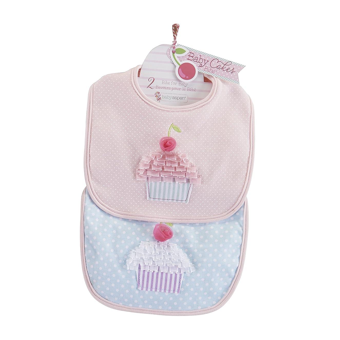 Baby Aspen Baby Cakes 2 Piece Bib Gift Set, Pink