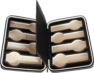 SONGMICS 8-Slot Portable Watch Box Travel Case Storage Organizer Black UJWB50B