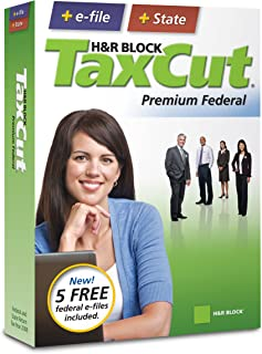 H&R Block TaxCut 2008 Premium Federal + State + e-file (Old Version)