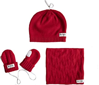 JEFFERYS(ジェフリーズ) iimo カシミヤ 手袋 帽子 マフラー セット エタニティレッド 子供用 キッズ 防寒グッズ JT7545 エタニティレッド