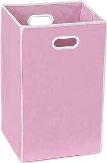 Simple Houseware Foldable Closet Laundry Hamper Basket, Pink