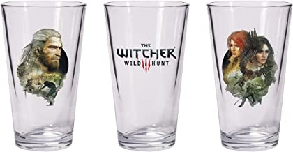 Dark Horse Deluxe The Witcher 3 Wild Hunt Geralt & Triss with Yennefer Pint Glass Set