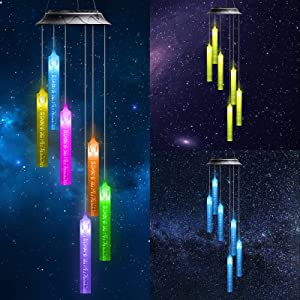 YXLM LED Solar Bubble Stake Lights,Solar Wind Chime Light Outdoor,RGB Color Changing Waterproof Solar Garden Decor Patio,Yard,Christmas/Housewarming Gift