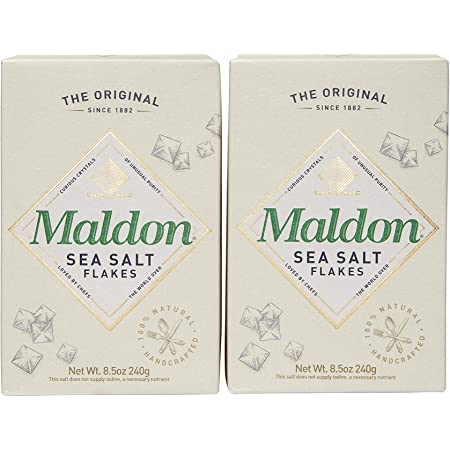 Maldon Salt, Sea Salt Flakes, 8.5 oz (240 g), (Pack of 2)