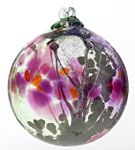 Kitras 6-Inch Fairy Orb Art Glass, Fuchsia