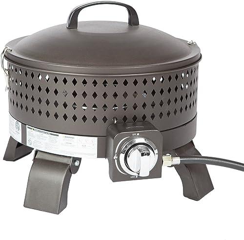 Fire Sense Sporty Campfire Portable 15 Inch Gas Steel Fire Pit | Mocha Finish | 60,000 BTU Output | Uses 20 Pound Pro...