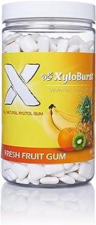 XyloBurst 100% Xylitol Gum, Fruit Gum, 500 Count Jar, Natural Chewing Gum, Non GMO, Vegan, Aspartame Free, ...
