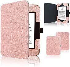 Nook GlowLight 3 Case, ACdream Folio Premium Leather Ereader Cover Case for Barnes & Noble Nook GlowLight 3 (2017 Release), (Rose Gold Star of Paris)