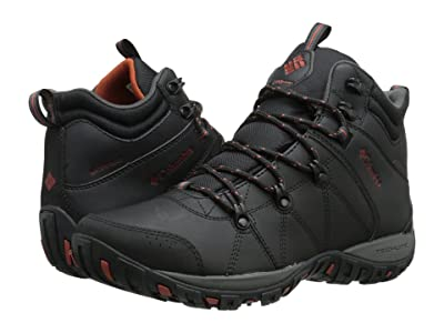 Columbia Peakfreaktm Venture Mid Waterproof Omni-Heattm (Black/Sanguine) Men