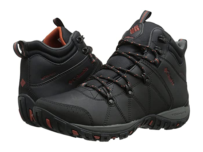 Columbia  Peakfreaktm Venture Mid Waterproof Omni-Heattm (Black/Sanguine) Mens Hiking Boots