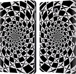 Official Peter Barreda Aspira Black and White Mandalas Leather Book Wallet Case Cover for Samsung Galaxy