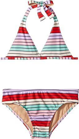 Toobydoo - Fun Multi Stripe Bikini (Infant/Toddler/Little Kids/Big Kids)