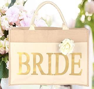 Bridal Shower Gift Bags, Bride Bag, Bride Tribe Tote, Wedding Favors, Bridal Shower Gift, Bride to Be, Bride Tote Bag for Wedding, 100% Linen and Cotton (Bride)