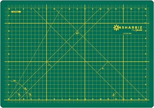 Cutting Mat for Sewing & Crafts - 12x18inches, Sturdy Rotary Cutting Mat w/ Self Healing, Non Slip Surface - Perfect ...