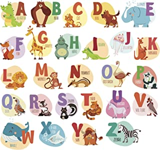 Animal Alphabet ABC Kids Wall Decals Wall Stickers Wall Stickers for Kid Nursery Bedroom Living Room