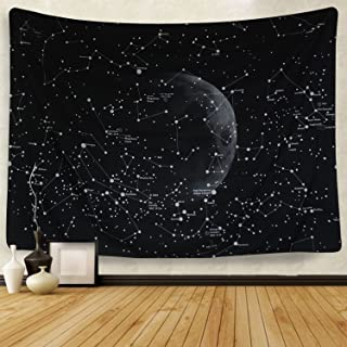 Martine Mall Moon Constellations Tapestry Wall Tapestry Bohemian Wall Hanging Tapestries..